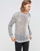 Asos Sweater in Knitted Lace Effect