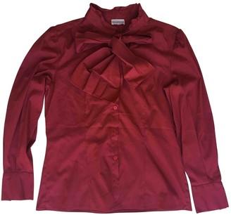 Philosophy di Alberta Ferretti Burgundy Cotton Top for Women