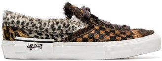 Vans Brown LX furry leather low-top sneakers