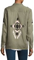 Rails Elliot Aztec Embroidery Military Jacket