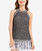 Vince Camuto Fringe-Trim Sweater