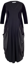 Chesca Drape Pocket Dress, Black