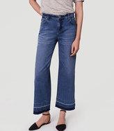 LOFT Modern Wide Leg Crop Jeans in Vintage Indigo Wash