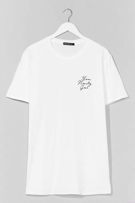 Nasty Gal Womens You Graphic Tee Dress - White - L, White