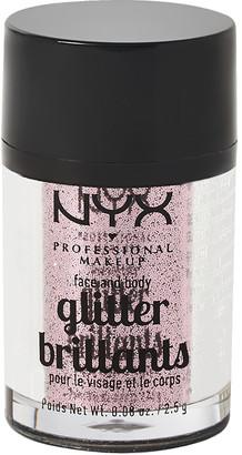 NYX Face & Body Glitter Red