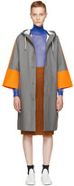 Marni Grey & Orange Stutterheim Edition Colorblock Raincoat