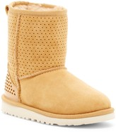 UGG Classic Short Honeycomb Genuine Sheepskin Lined Boot (Little Kid & Big Kid)