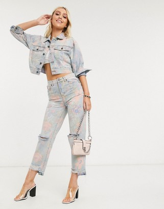 Blank NYC mom jeans in floral print