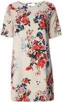Only **Only Cream Short Sleeve Floral Shift Dress