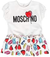 Moschino Logo Printed Cotton Jersey Dress
