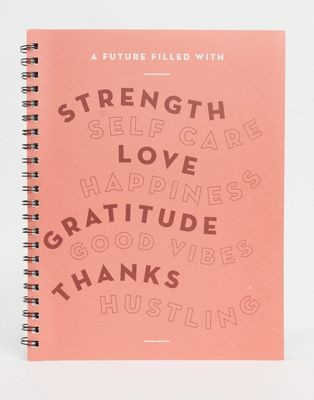 Typo notebook in A4 with good vibes slogan
