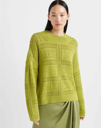 Club Monaco Pointelle Stitch Sweater