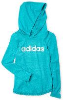 adidas Girls 4-6x) Turquoise Space-Dye ClimaLite Hoodie