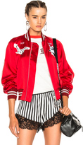 Off-White Greenland Bomber Jacket in Metallics,Red.