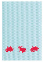S/2 Three Crabs Kitchen Towels, Blue