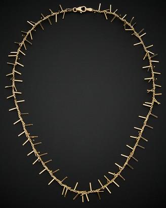 Italian Gold 14K Spike Necklace