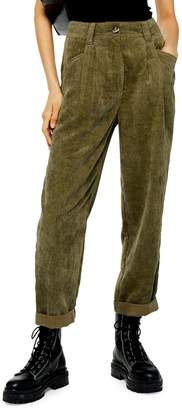 Topshop Elijah Corduroy Peg Trousers