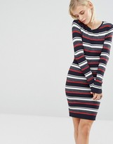 Brave Soul Striped Sweater Dress