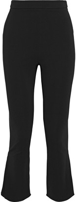 Cushnie Cropped Crepe Flared Pants