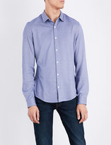 Armani Jeans Geometric-pattern slim-fit cotton-blend shirt