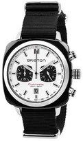 Briston Clubmaster Sport Acetate Chronograph Watch, White/Black