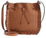 Michael Kors Maldives Woven Frayed Leather Crossbody Bag