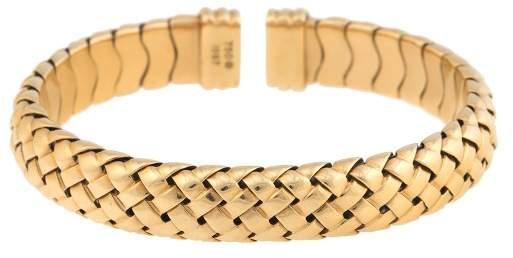Tiffany & Co. 18K Yellow Gold Vannerie Basket Woven Cuff Bracelet