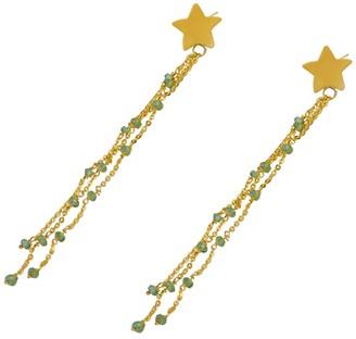Softdream By Lauragalasso Peridot Star Sparkle Earring