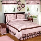 JoJo Designs Sweet French Toile and Polka Dot Bedding Collection in Pink/Brown
