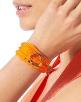 Heart & Peace Charm Wrap Bracelet