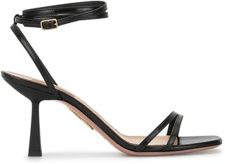 Aquazzura Ankle-Strap Leather Sandals