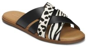 Aerosoles Women's Martha Stewart Cross Strap Pilot Flat Sandal Women's Shoes