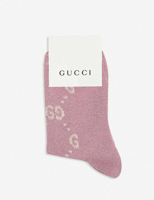 Gucci Logo-embroidered cotton-blend knee-high socks 0-4 years