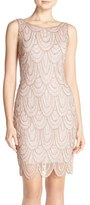 Pisarro Nights Women's Embellished Mesh Sheath Dress