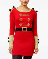 Hooked Up by IOT Juniors' Nutcracker Holiday Sweater Dress