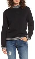 Obey Women's Quinn Mock Neck Sweatshirt