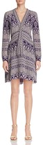 Tory Burch Bourdelle Graphic Floral Silk Dress