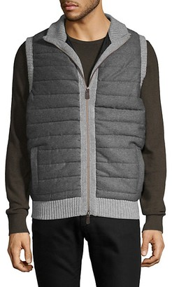 Amicale Wool Cashmere Quilted Vest