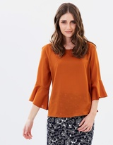 Privilege Margarita Bell Sleeve Top