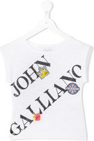 John Galliano logo print T-shirt - kids - Cotton/Modal - 8 yrs
