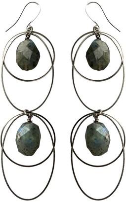 Tiana Jewel Spirit Of Heart Labradorite Gemstone Earrings Silver