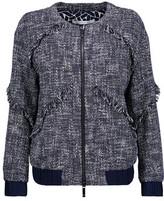 Diane von Furstenberg Braelyn Fringed Cotton-Blend Bouclé-Tweed Jacket