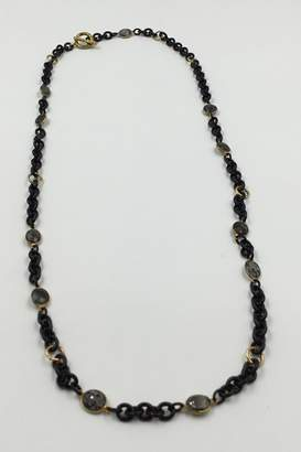 Private Label Sapphire Sky Labradorite Station Necklace