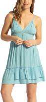 Lagaci Women's Casual Dresses BLUE - Blue Crochet-Accent Sleeveless Dress - Women