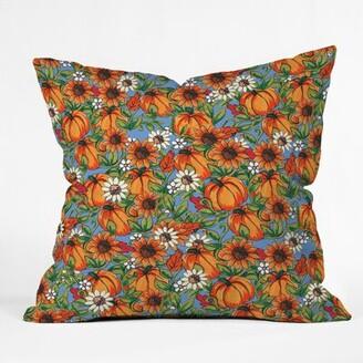"East Urban Home Pumpkin Harvest Throw Pillow East Urban Home Size: 16"" H x 16"" W x 4"" D"