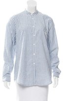 Burberry Pinstripe Button-Up Top