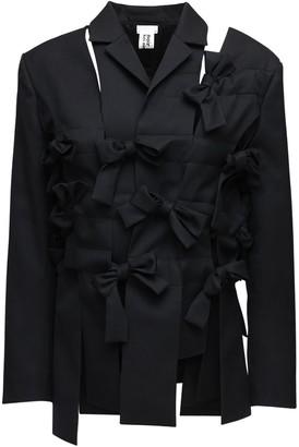 Noir Kei Ninomiya Wool Gabardine Jacket W/ Bows