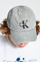 Calvin Klein Denim Splatter Strapback Dad Hat