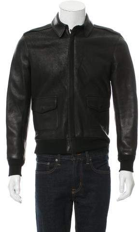 Maxwell Snow Leather Wool-Trimmed Jacket