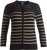 August Silk Black & Gold Stripe Cardigan